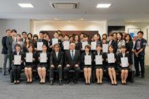 在校生特待生表彰式 SVAからは2名表彰されました!